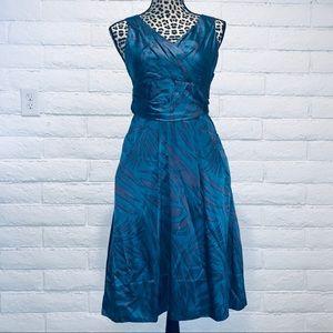 Marc Jacobs silk blend blue dress & purple pattern